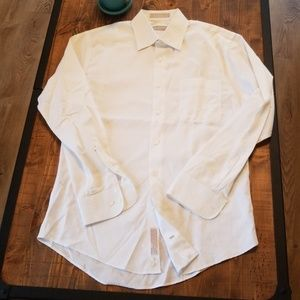 Nordstrom trim fit white button down dress shirt